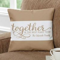 """Together..."" 14-Inch Square Throw Pillow"