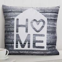 Home is Love 18-Inch Square Throw Pillow