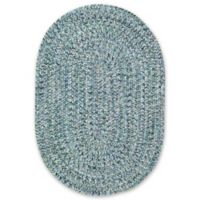 Capel Rugs Sea Pottery Oval 2-Foot x 3-Foot Accent Rug in Blue