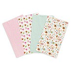 Trend Lab® 4-Pack Elephants and Owls Burp Cloth Set