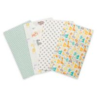 Trend Lab® 4-Pack Mint Jungle Burp Cloth Set