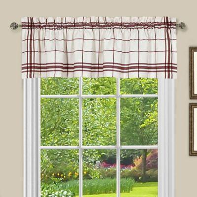 achim bainbridge kitchen window valance in burgundy