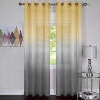 Achim Rainbow 84 Inch Grommet Top Window Curtain Panel In Grey Yellow