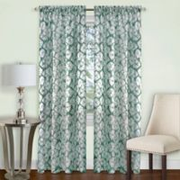 Achim Batik 63-Inch Rod Pocket Window Curtain Panel in Sage