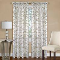 Achim Batik 63-Inch Rod Pocket Window Curtain Panel in Tan