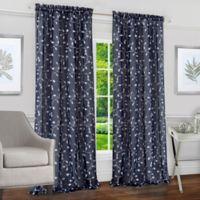 Achim Chloe 84-Inch Rod Pocket Window Curtain Panel in Navy