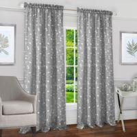 Achim Chloe 84-Inch Rod Pocket Window Curtain Panel in Silver