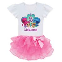 Shimmer and Shine™ Size 5/6T Birthday Wish Tutu T-Shirt