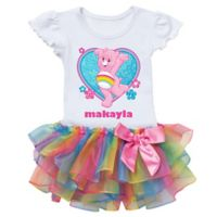 Care Bears™ Size 4T Cheer Bear Dance Rainbow Tutu T-Shirt