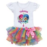 Shimmer and Shine™ Size 4T Dazzling Duo Rainbow Tutu T-Shirt