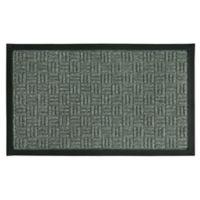 Bacova Floor Saver 18-Inch x 30-Inch Door Mat in Parquet Grey