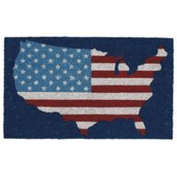 Design Imports American 18-Inch x 30-Inch Door Mat in Blue/Red