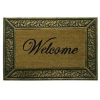 Bacova Pebble Welcome 22-Inch x 33-Inch Door Mat in Brown