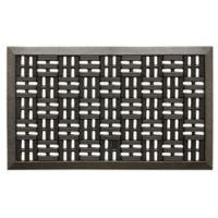 Bacova Trellis Scrapper 18-Inch x 30-Inch Rubber Door Mat in Black