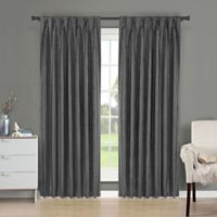 Brielle Fortune 95-Inch Back Tab Room Darkening Window Curtain Panel in Silver