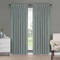 Brielle Fortune 95-Inch Back Tab Room Darkening Window Curtain Panel in Blue