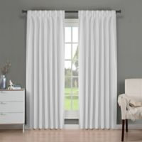 Brielle Fortune 95-Inch Back Tab Room Darkening Window Curtain Panel in Silk White