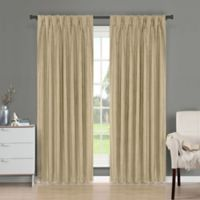 Brielle Fortune 108-Inch Back Tab Room Darkening Window Curtain Panel in Natural