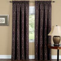 Achim Sutton 63-Inch Rod Pocket Room Darkening Window Curtain Panel in Brown