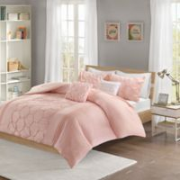 Intelligent Design Carrie 5-Piece Full/Queen Comforter Set in Blush