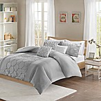Intelligent Design Carrie 5-Piece Full/Queen Comforter Set in Grey