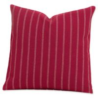 SIScovers® Striped Burlap 16-Inch Square Throw Pillow in Red/Beige