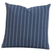 SIScovers® Striped Burlap 16-Inch Square Throw Pillow in Blue/Off White