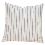 SIScovers® Striped Burlap 16-Inch Square Throw Pillow in Beige/Blue