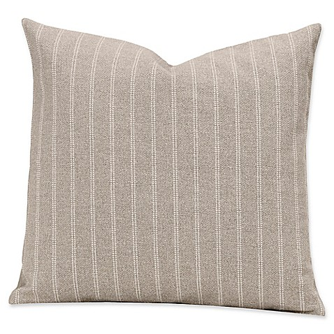 image of SIScovers® Striped Burlap 20-Inch Square Throw Pillow