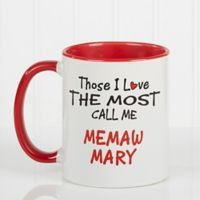 Those I Love the Most 11 oz. Coffee Mug in Red/White