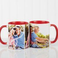 You & I 11 oz. Photo Coffee Mug in Red/White