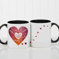 We Love You To Pieces 11 oz. Photo Coffee Mug in Black/White