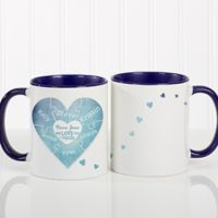 We Love You To Pieces 11 oz. Photo Coffee Mug in Blue/White