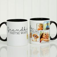 They're Worth Spoiling 11 oz. Photo Coffee Mug in Black/White