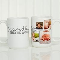 They're Worth Spoiling 15 oz. Photo Coffee Mug in White