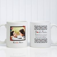 Soul Mates 11 oz. Photo Coffee Mug in White