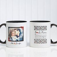 Soul Mates 11 oz. Photo Coffee Mug in Black