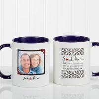 Soul Mates 11 oz. Photo Coffee Mug in Blue