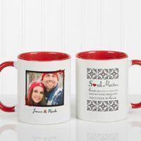 Soul Mates 11 oz. Photo Coffee Mug in Red
