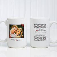 Soul Mates 15 oz. Photo Coffee Mug in White