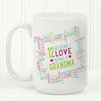 Reasons Why For Her 15 oz. Photo Coffee Mug in White