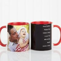 Photo Sentiments For Him 11 oz. Mug in Red