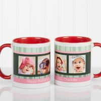 Photo Message to Her 11 oz. Coffee Mug in Red/White