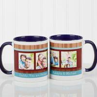 Photo Message 11 oz. Coffee Mug in Blue/White