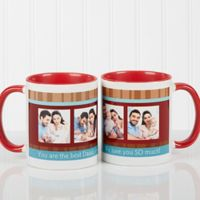 Photo Message 11 oz. Coffee Mug in Red/White