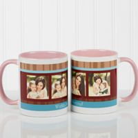 Photo Message 11 oz. Coffee Mug in Pink/White