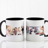 5 Photo Collage 11 oz. Coffee Mug in Black/White