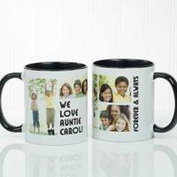 5 Photos Loving Message 11 oz. Coffee Mug in Black/White