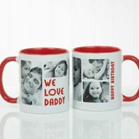 5 Photos Loving Message 11 oz. Coffee Mug in Red/White