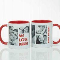 5 Photos Loving Message 11 oz. Coffee Mug in Red/White